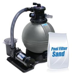 "ClearWater 19"" Sand Filter Above Ground Pool System with Hi-Flo Single Speed Pump and 100lbs of Sand"