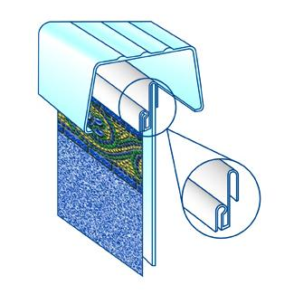 Above Ground Pool Liner Bead Receiver Image