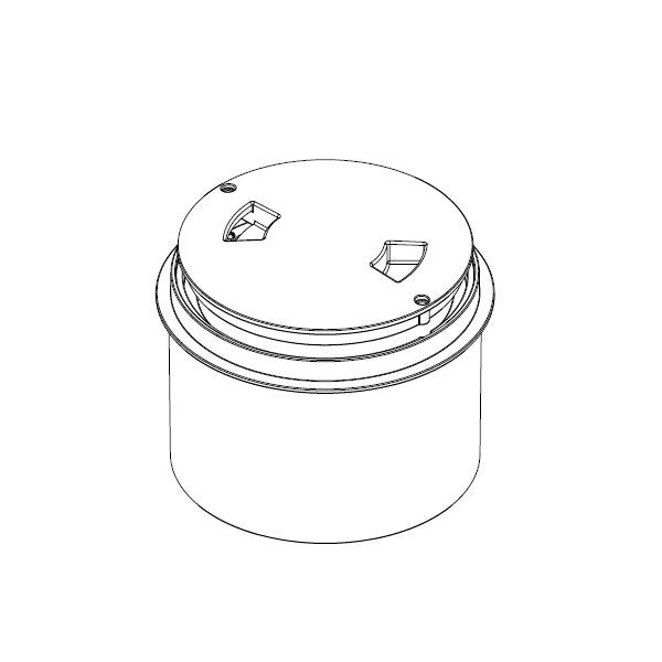 Paralevel Deck Ring/Lid Wht