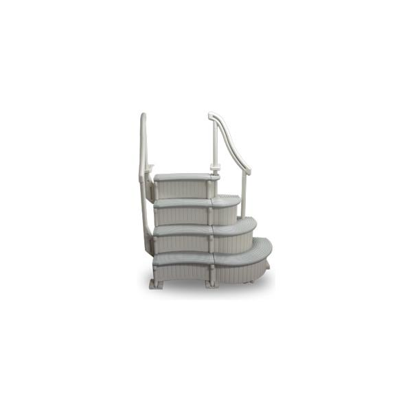 Confer Plastics CCX-AG-2 Curve Base In-Pool 4-Step Above Ground Pool Add-On Ladder
