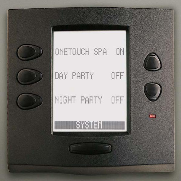 Jandy 7954 Aqualink Rs Onetouch Wired Black Control Panel
