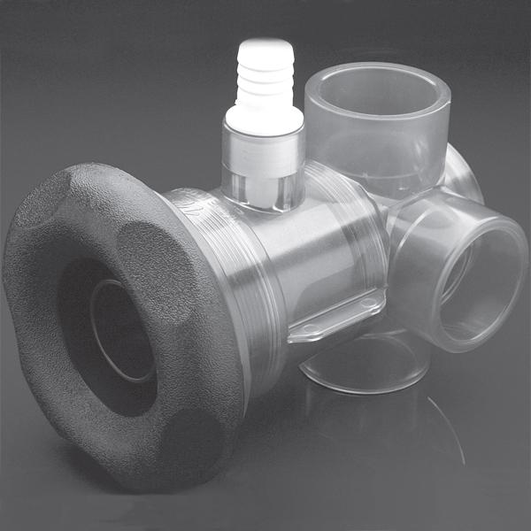 Waterway Turbo Spa Jet Diverter Valve Spa Jet Body Assembly Five Scallop