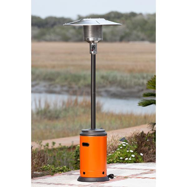 Well Traveled Living 61125 Patio Heater - Mocha and Tuscan Orange Powder Coated