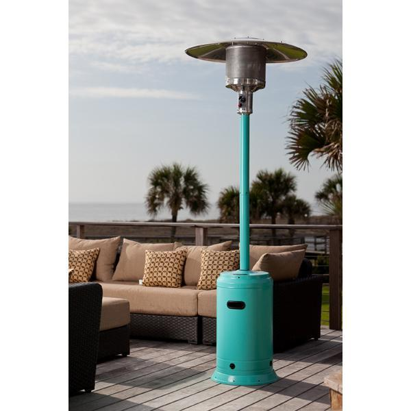 Well Traveled Living 61130 Patio Heater - Aqua Blue Powder Coated