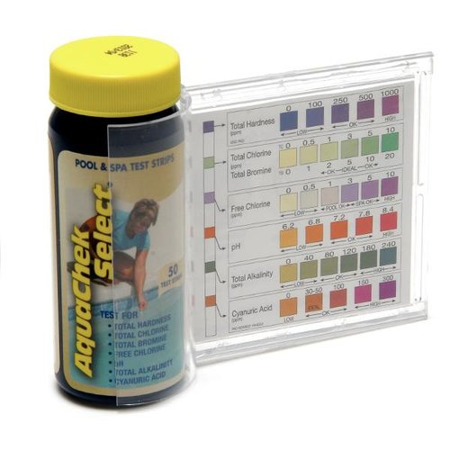 pool water test strips how to read