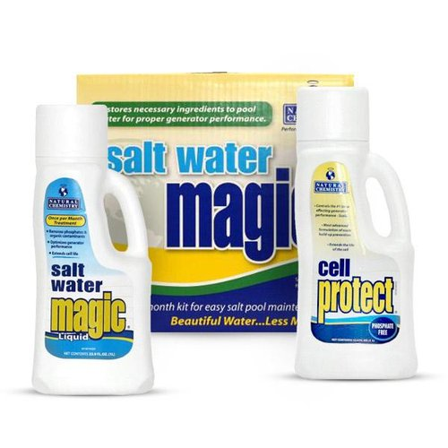 Natural chemistry salt water magic monthly kit 07404 - Saltwater swimming pool chemistry ...