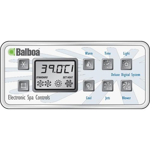 Digital Control Panel : Balboa spa parts overlay deluxe digital control