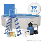Oceania 15' Round Simple Above Ground Swimming Pool Package