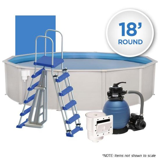 Oceania 18' Round Simple Above Ground Swimming Pool Package