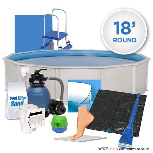 Oceania 18 Round Supreme Above Ground Swimming Pool Package