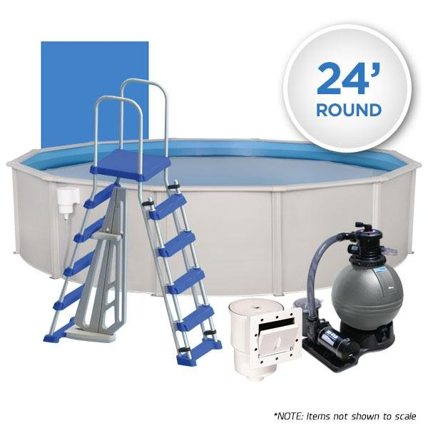 Oceania 24' Round Simple Above Ground Swimming Pool Package