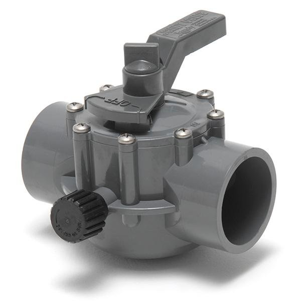 Gray 2-Port 2 in. - 2.5 in. Valve