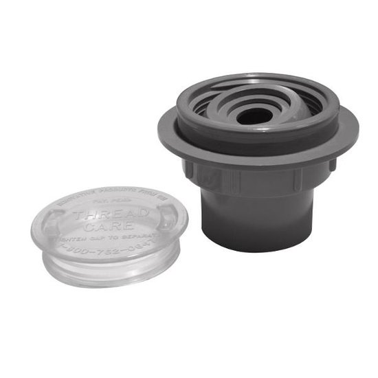 1-1/2 in. & 1 in. Inlet - Black
