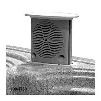 WATERWAY SPEAKER SYSTEM 5-1/4IN CO-AXIAL GRAY