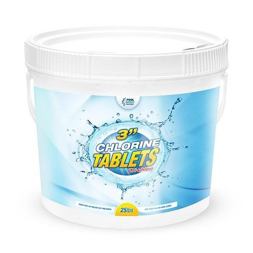 Poolsupplyworld Psw Csc140 3in Chlorine Tablets 25 Lb Bucket Tri Chlor