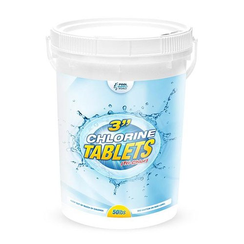 Poolsupplyworld 3 Inch 50 Lb Pool Chlorine Tablets Bucket