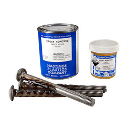 S.R. Smith 75-209-5876-SS Epoxy Kit with three 6 Inch x 1/2 Inch Bolts