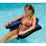 Fabric U-Seat with Inflatable Covered Head Rest and Drink Cup Holders