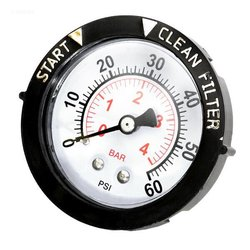 Pentair Pool Products Gauge, Pressure 1/4 in. Rear/Back Connection NPT 0-60 PSI 2 in. Face with Dial