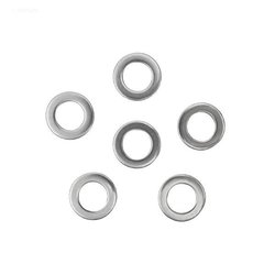 Hayward Pool Products Inc. Washer, 5/8 in. OD, 3/8 in. ID, 1/16 Thick in. , SS (Set of 6)