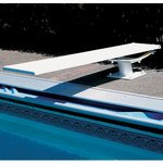 608 Cantilever/8' Frontier III Combo (Marine Blue) Matching Tread and White Stand/Spring