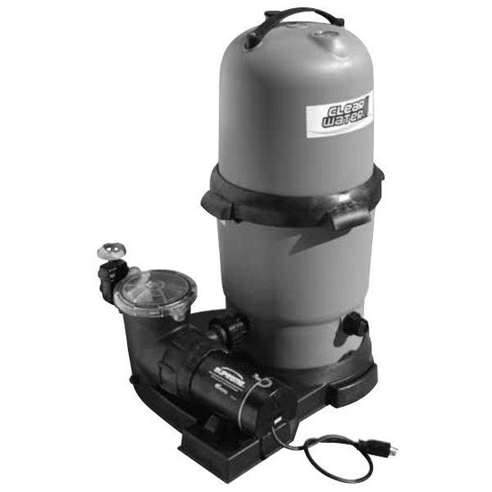 100 sqft Filter 1.5HP Pump