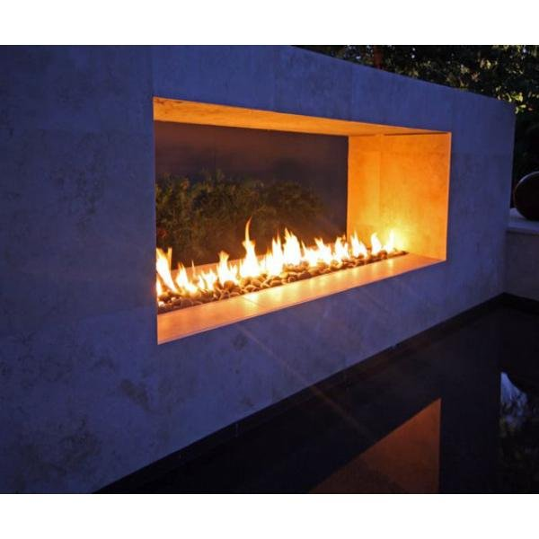 6' Linear Insert in Pool-Side Fire Pit