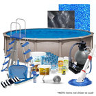 PoolSupplyWorld Memorial Day 24' Round Above-Ground Pool Kit with Pump, Filter, Ladder, Chemicals, and More!