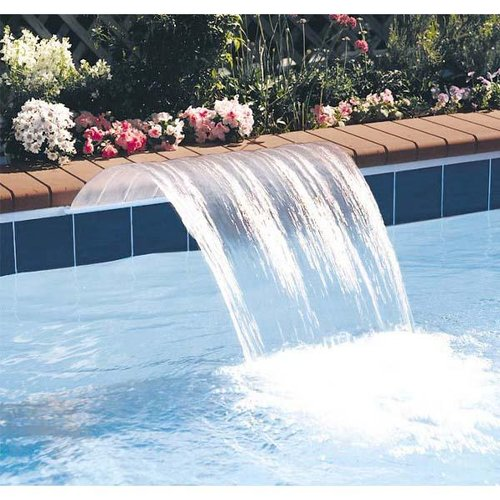 Jandy 1218csa sheer arc 18in waterfall with 6in extended clear lip back feed - Arc swimming pool ...