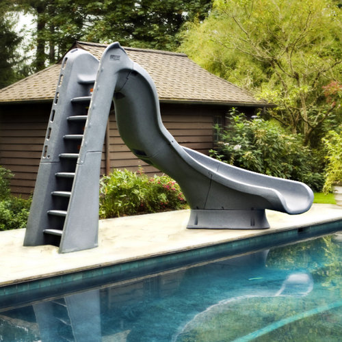 S.R. Smith 688-209-58224 TurboTwister Left Turn Complete Pool Slide - Gray Granite