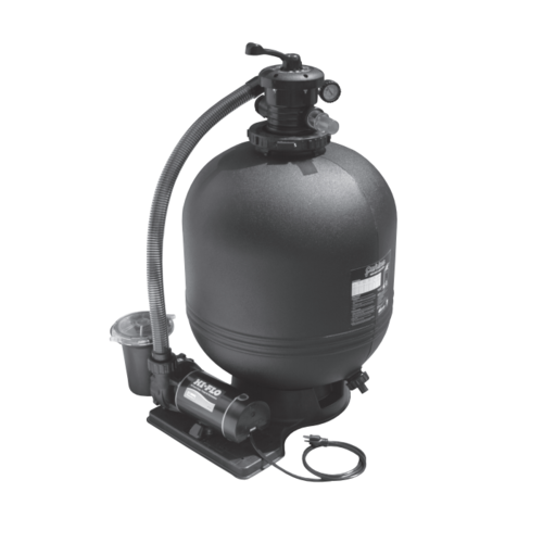 Waterway s carefree inch sand filter above