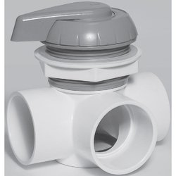 Waterway 1 in. Top Access Horizontal Diverter Valve Notch Cap Assembly - White