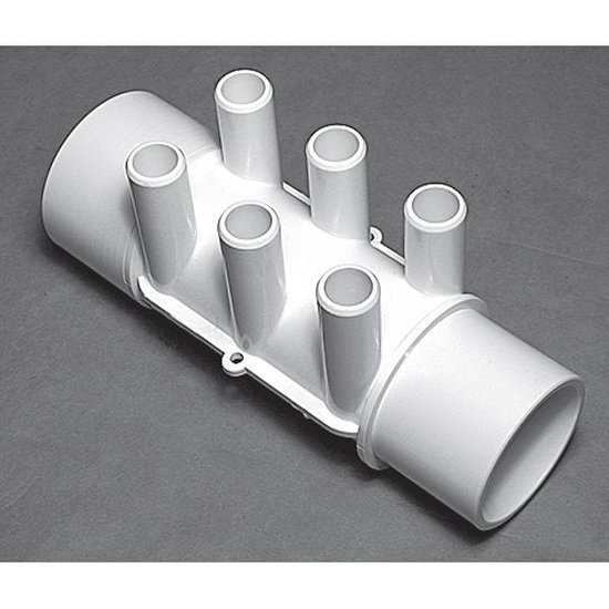 Waterway Spa Manifold 2 in. SPG x 2 in. SPG 6-Port 3/4 in. SB