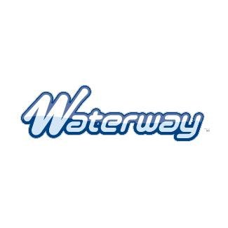 WATERWAY ADAPTER 1SPG X 3/8 RB BARB logo