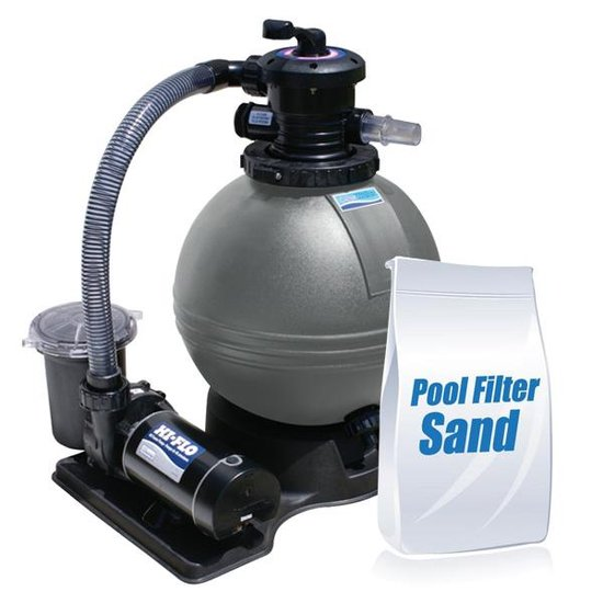 ClearWater 19 in. Sand Filter Above Ground Pool System with 1HP Pump and 50lbs of Sand