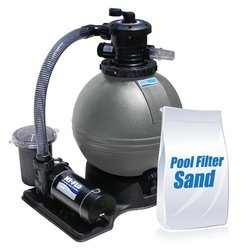 ClearWater 19 in. Sand Filter Above Ground Pool System with Hi-Flo Single Speed Pump and 100lbs of Sand