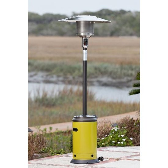 Well Traveled Living 61127 Patio Heater - Mocha and Chartreuse Green Powder Coated