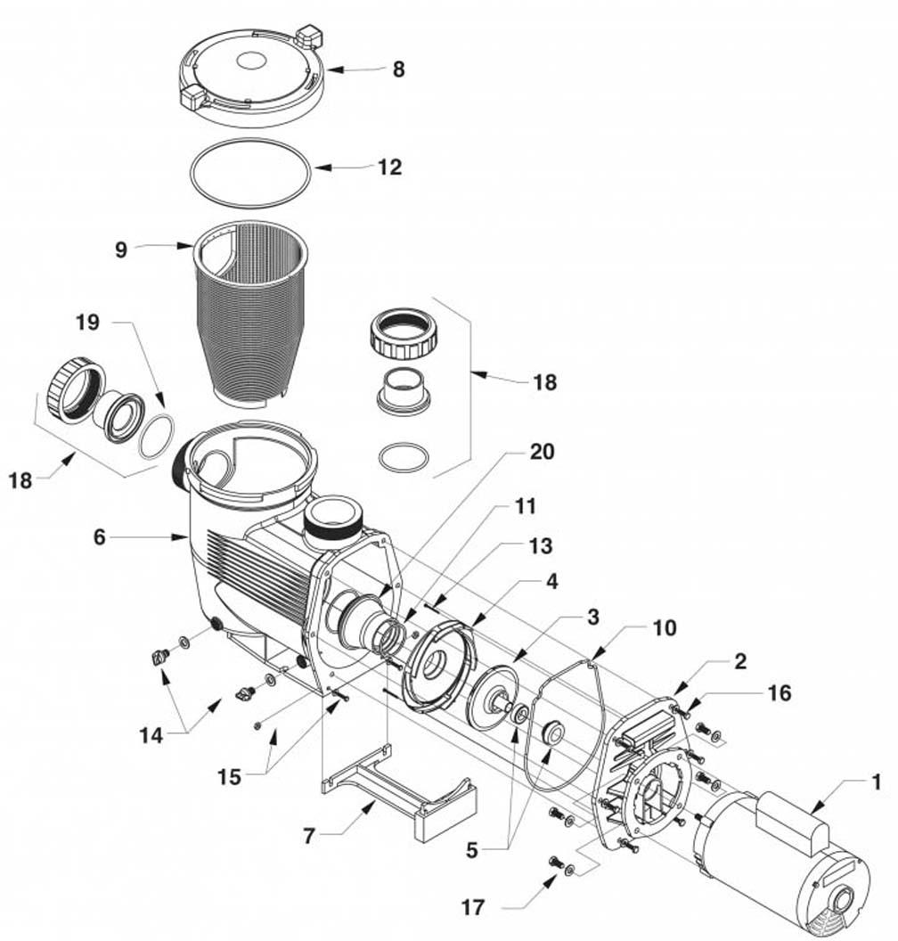 Jandy JHP Full-Rated JHPU Up-Rated Pump Parts