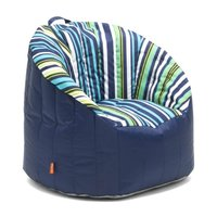 Stupendous Big Joe 0650886 Outdoor Lumin Chair Cozumel Stripe And Navy Squirreltailoven Fun Painted Chair Ideas Images Squirreltailovenorg