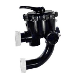 Pentair Sta-Rite 18201-0200 ABS 6-Position Multiport Valve, 2 Inch Valve Port with Piping, Union Connection Design