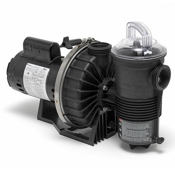 Pentair Challenger High Pressure Standard Efficiency Up-Rated 1HP Pool Pump, 115V/230V