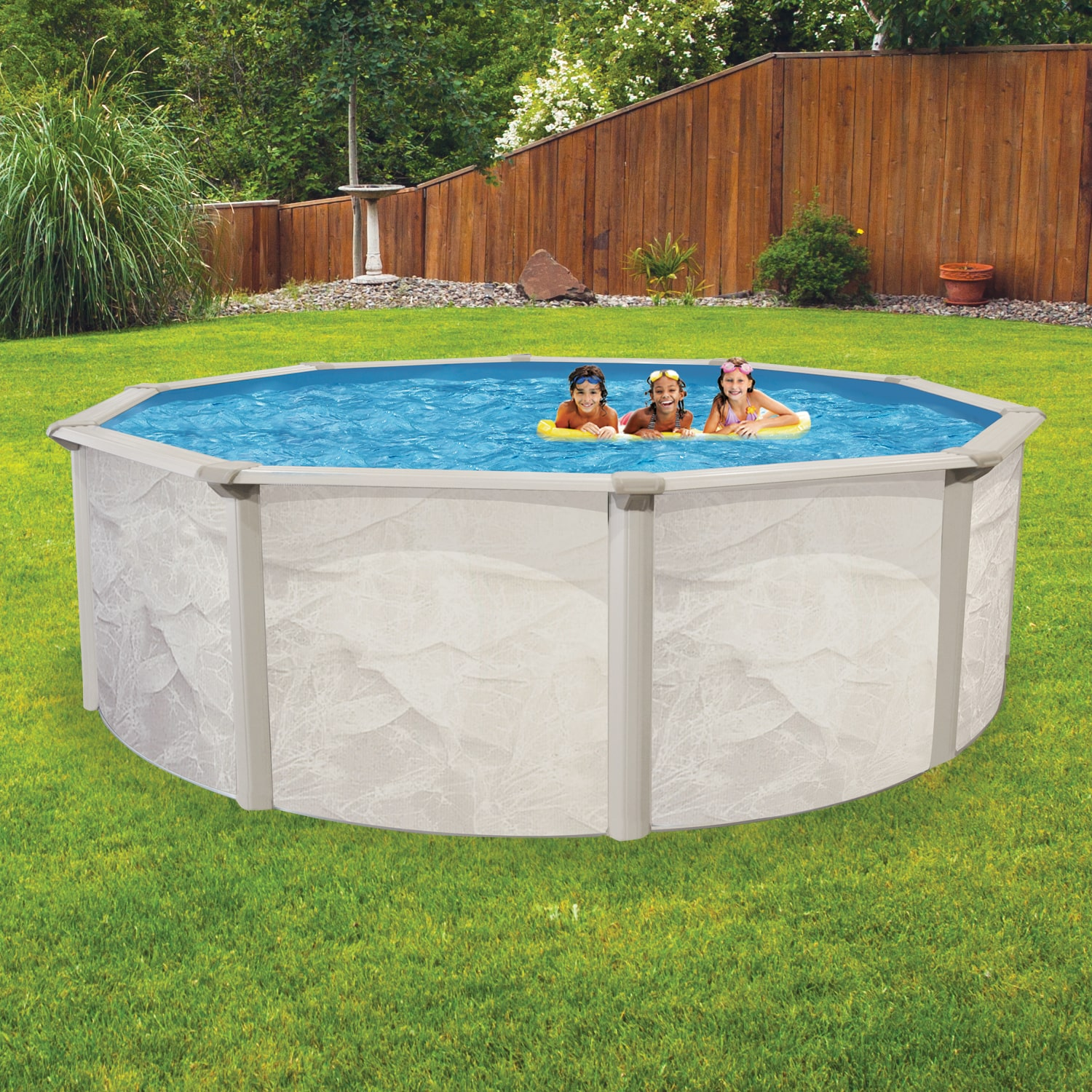 Pentair Globrite Shallow Water Led Light: Oceania Weekender Round Above Ground Pool Package