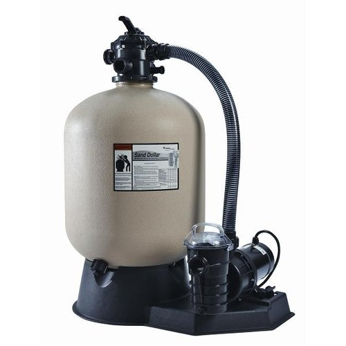pentair sand dollar sd40 sand filter system with 1hp dynamo above ...